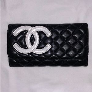 Chanel Black Logo Wallet